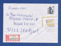 Bund R-Brief Einschreiben MiF 1407, 1756 (Bogenecke) - BIELEFELD 1997 - BRD