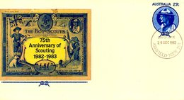 AUSTRALIE. Entier Postal Avec Oblitération 1er Jour De 1982. Scoutisme. - Scouting
