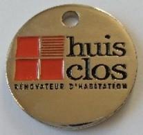 Jeton De Caddie - HUIT CLOS - Rénovation D'Habitation - En Métal - Neuf - - Trolley Token/Shopping Trolley Chip