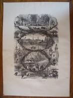 New-York, Central Park    Gravure    1880 - Vieux Papiers