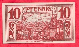 Allemagne 1 Notgeld De 10 Pfenning  Stadt Einlösbar UNC  N °3008 - Collections