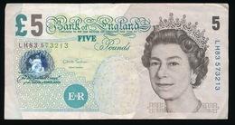 FIVE POUNDS     2 SCANS - 1952-… : Elizabeth II.