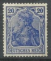 Allemagne - Année 1905-11 - Y & T N° 85* TC Quasi Invisible   Voir Scan Verso - Allemagne