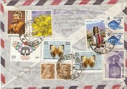 Inde 1981 - Lettre Par Avion De Tamil Nadu à Hürth HerMülheim/Allemagne Fédérale - Bel Affranchissement Composé - Lettres & Documents