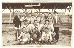 Cpa Carte-photo - Equipe De Joueurs De Football, Stade Henry Sultana ( Algérie, Bône ), Dans L'état - Football