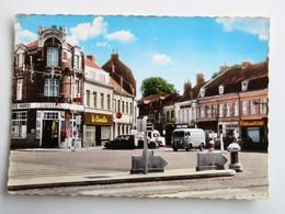 """C.P.A. : 59 HAUBOURDIN : Place Frémaux, """"Le Camélia"""", Animé - Haubourdin"""