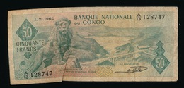 BANQUE NATIONALE DU CONGO  CINQUANTE FRANCS      2 SCANS - [ 5] Congo Belge