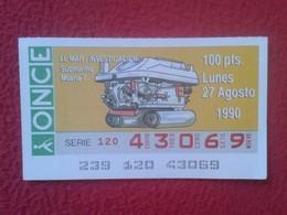 CUPÓN DE ONCE SPANISH LOTTERY CIEGOS SPAIN LOTERÍA LOTERIE SUBMARINO SUBMARINE SOUS-MARIN SUBMARINES MOANA 7 EL MAR VER - Billetes De Lotería