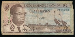 BANQUE NATIONALE DU CONGO  100 FRANCS      2 SCANS - Bank Van Belgisch Kongo
