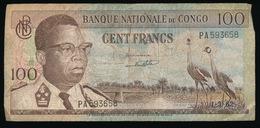 BANQUE NATIONALE DU CONGO  100 FRANCS      2 SCANS - [ 5] Belgisch Kongo