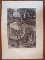 New-York, Rues De Brooklyn    Gravure    1880 - Vieux Papiers