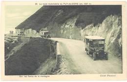 Cpa La Route Automobile Du Puy De Dôme ( Aotocar / Bus ) - Bus & Autocars