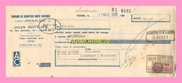 LETTRE DE CHANGE De La Fabrique De Bijouterie De Haute Fantaisie Jules GOTTLIEB  Paris  Et Maison Cavarec  LANDERNEAU 19 - Bills Of Exchange