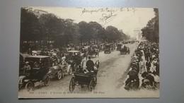 Carte Postale Ancienne  / PARIS Voitures Sur L'avenue Du Bois De Boulogne - Transport Urbain En Surface