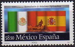 MEXIQUE.Émission Conjointe, Mexique-Espagne  1 T-p Neuf ** (Scott # 2298) - Joint Issues