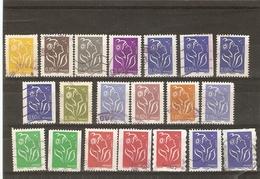 France 2005/2008 - Marianne De Lamouche - Valeurs En Euros Et Permanents - Petit Lot De 20 Timbres ° - 1' Cachets Ronds - Stamps