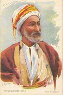 Publicité Musculosine Byla: VIII Palestine - Illustration L. Lessieux - Format Carte Postale - Cromo