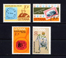 GUYANA    1979    Death  Centenary  Of  Sir  Rowland  Hill   Set  Of  4    MNH - Guyana (1966-...)