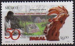 Decouverte De La Tombe De Pakal. Roi Maya A Palenque. 1 T-p ** Mexique 2002 - Mexique