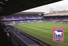 Stadium Portman Road (Ipswich Town,England) Postcard - Size: 15x10 Cm. Aprox - Fútbol