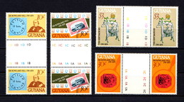 GUYANA    1979    Death  Centenary  Of  Sir  Rowland  Hill   Set  Of  4  Gutter  Pairs   MNH - Guyana (1966-...)