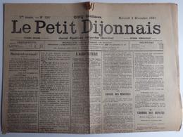 Journal Républicain Independant  - Le Petit Dijonnais - Décembre 1891 - Vieux Papiers