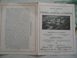 Tuileries De Marcke Lez Courtrai Dakpannen  1930 - Publicités