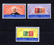 ST VINCENT  GRENADINES    1979    Death  Centenary  Of  Sir  Rowland  Hill   Set  Of  3     MNH - St.Vincent & Grenadines