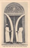 Zanzibar - Ethnic / 50 - Large Ivory Tusks And Arab Carved Door - Tanzania