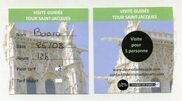 Ticket 2018 - Visite Guidée Tour Saint-Jacques à Paris (France) - Tickets - Vouchers