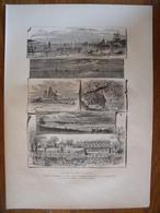 Connecticut, Les Bords Du Sound    Gravure    1880 - Vieux Papiers