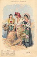 Histoire Du Costume - Publicité Musculosine Byla: Italie, Napolitains Actuels - Format Carte Postale - Cromo