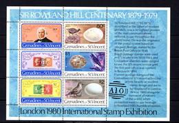 ST VINCENT  GRENADINES    1979    Death  Centenary  Of  Sir  Rowland  Hill   Sheetlet     MNH - St.Vincent & Grenadines