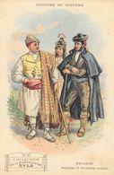 Histoire Du Costume - Publicité Musculosine Byla: Espagne, Andalous Et Grenadins Actuels - Format Carte Postale - Cromo