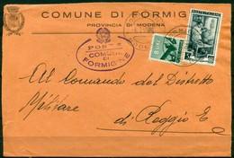 V6802 ITALIA 1952 REPUBBLICA Corrispondenza Tra Sindaci, Lettera Da Comune Di Formigine (Modena) 6.2.52 A Reggio Emilia - 6. 1946-.. Repubblica