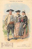 Histoire Du Costume - Publicité Musculosine Byla: Suisse, Canton De Berne, XVIIIe Siècle - Format Carte Postale - Cromo