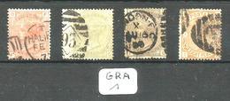 GRA YT 58/61 En Obl. - 1840-1901 (Victoria)