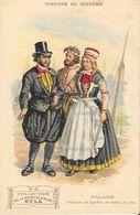 Histoire Du Costume - Publicité Musculosine Byla: Hollande, Pêcheurs De Marken En Habits - Format Carte Postale - Cromo