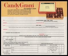 CHOCOLAT - CHOCOLATE / USA TELEGRAMME ILLUSTRE - CANDYGRAM - WESTERN UNION (ref GF53) - Alimentazione