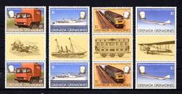 GRENADA  GRENADINES    1979    Death  Centenary  Of  Sir  Rowland  Hill   Set  Of  4  Gutter  Pairs  2nd Series   MNH - Grenada (1974-...)