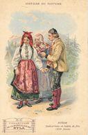Histoire Du Costume - Publicité Musculosine Byla: Suède, Dalécarliens En Habit De Fête - Format Carte Postale - Cromo