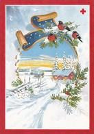 Winter Scene - Landscape - Paysage De Scène D'hiver - Red Cross 1997 - Suomi Finland - Postage Payed - Croix-Rouge
