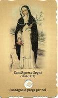 SANTINO + RELIQUIA RELIC Image Pieuse Image Religieuse Holy Card  SANTA AGNESE POLIZIANA  DA MONTEPULCIANO  PERFETTO - Religion & Esotericism