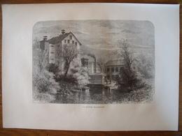 Rhode Island, Blackstone River    Gravure    1880 - Old Paper