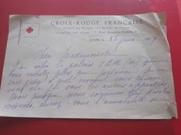 Après Guerre 1919-WW1 LETTRE MANUSCRIT LA CROIX ROUGE FRANÇAISE CHÈRE MELLE J'AI POUR VOUS LES PALMES SBM FORT MÉRITÉES - Manuscripts