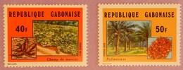 "GABON ANNEE 1974 YT 336/337  NEUF**  "" AGRICULTURE"" - Gabon (1960-...)"
