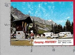 CARTOLINA VG ITALIA - COURMAYEUR (AO) - Camping  PEUTEREY - Val Veny - 10 X 15 - ANN. 197? - Italia