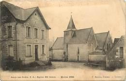 - Indre Et Loire -ref A755- Azay Sur Indre - Eglise XIe Siecle - Mairie 1885 - - France