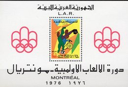Olympia Montreal 1976 Libyen Block 21 ** 12€ Sommer-Sport Radfahrer Ringe Bloque Hojita S/s Bloc Sheet Bf Olympics - Libye