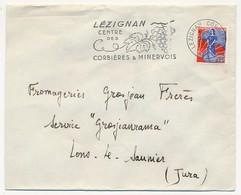 Enveloppe - OMEC Secap - LEZIGNAN (Aude) Centre Des Corbières & Minervois - 1960 - Marcophilie (Lettres)